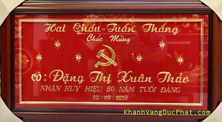 khánh vàng huy hiệu 50 năm tuổi Đảng