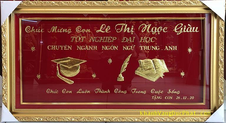 khánh vàng chúc mừng tốt nghiệp