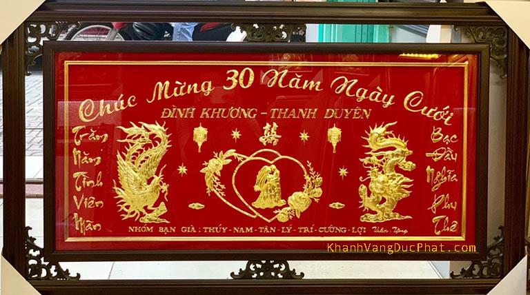 khánh vàng kỷ niệm 30 năm ngày cưới