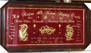 kỷ niệm 40 năm ngày cưới