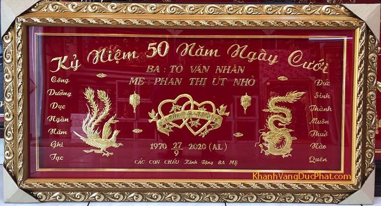 quà tặng các mốc kỷ niệm ngày cưới